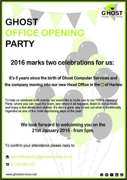 Office Party Invite 21-1